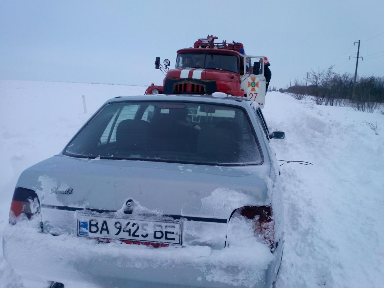 На Кiровоградщинi у перiод негоди близько 1000 людей опинилися у безвиходi на дорогах (ФОТО)