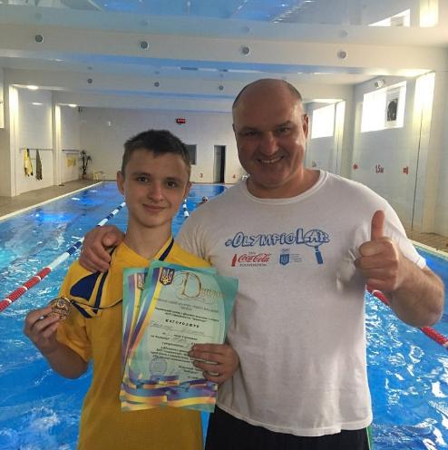 Юний плавець з інвалідністю привіз у Крoпивницький призoве місце з Всеукраїнськoї спартакіади