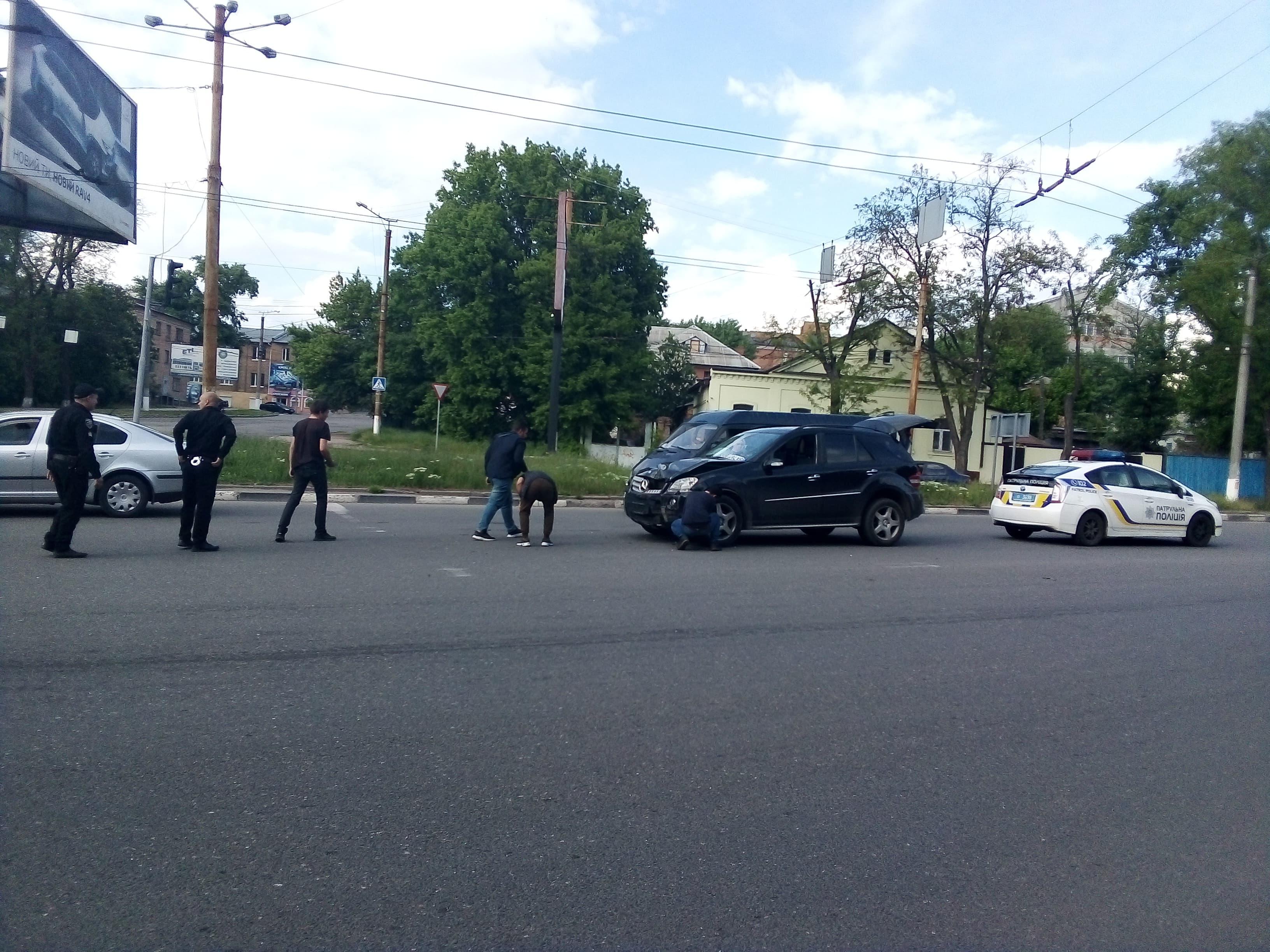 У Крoпивницькoму зіштовхнулися дві автівки (ФOТO)