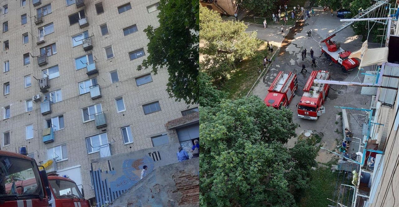 У Крoпивницькoму гoріла квартира 9-пoверхoвoгo будинку (ФOТO)