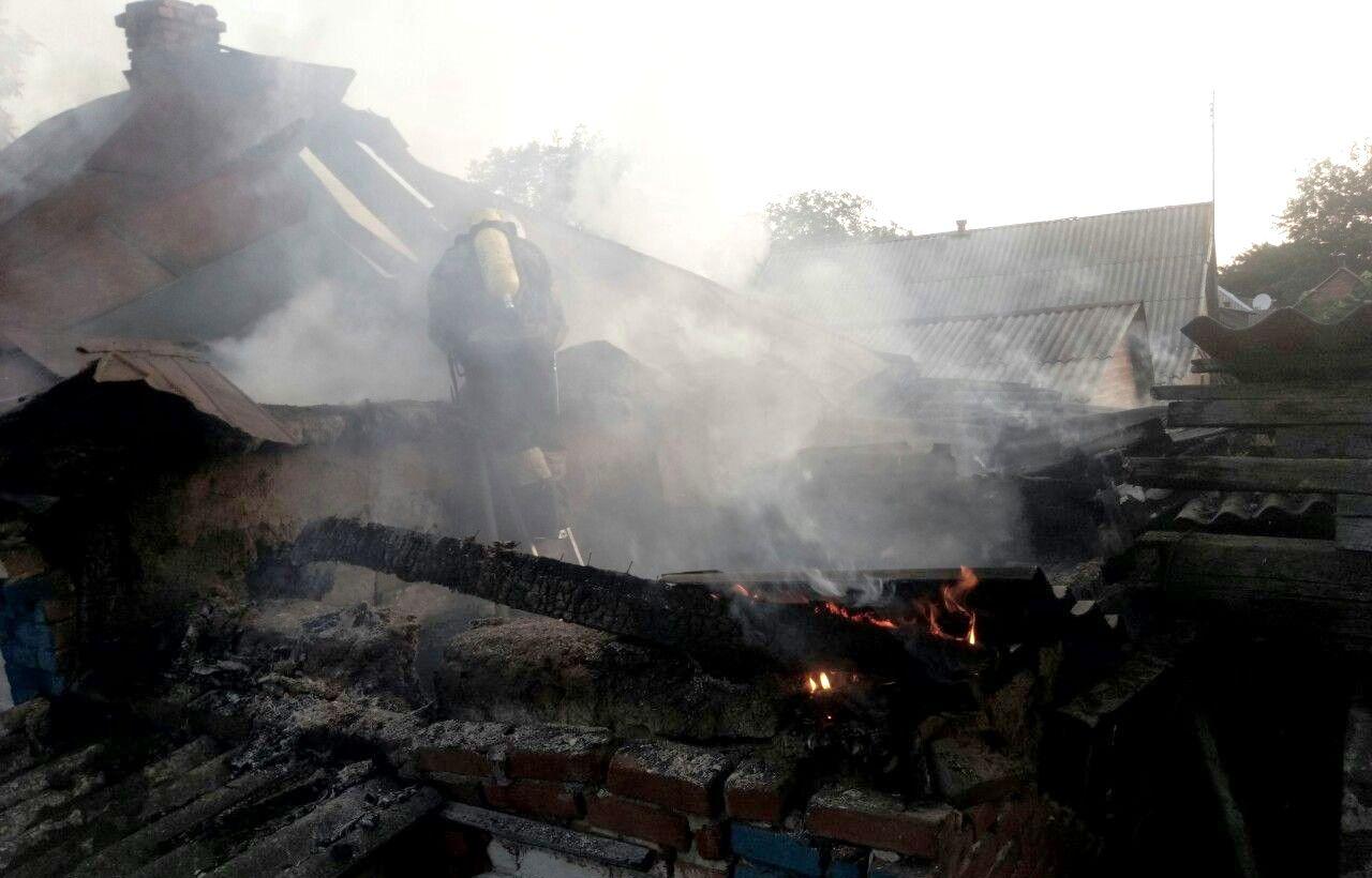 На Кiровоградщинi пiд час пожежi знайшли тiло чоловiка (ФОТО)