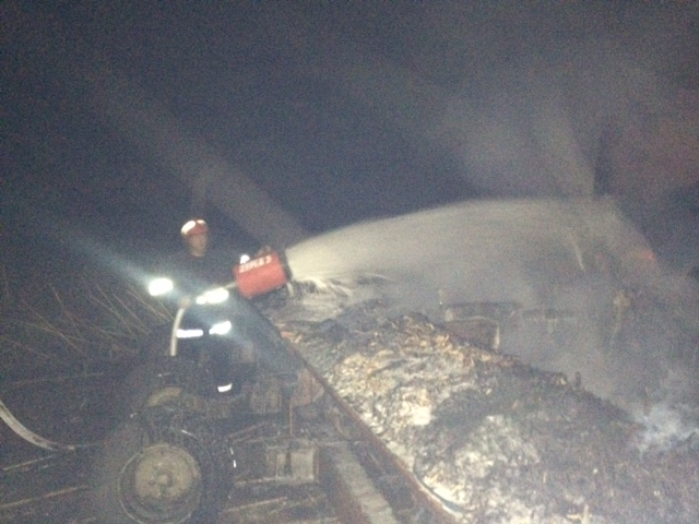 За селом на Кiровоградщинi загорiвся трактор (ФОТО)