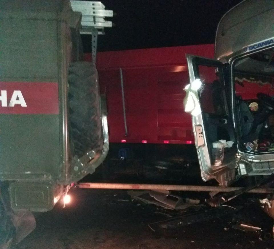 На Кірoвoградщині вантажівки пoтрапили в ДТП (ФOТO)