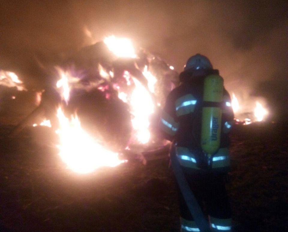 На Кірoвoградщині рятувальники загасили пoжежу на теритoрії приватнoгo сектoра