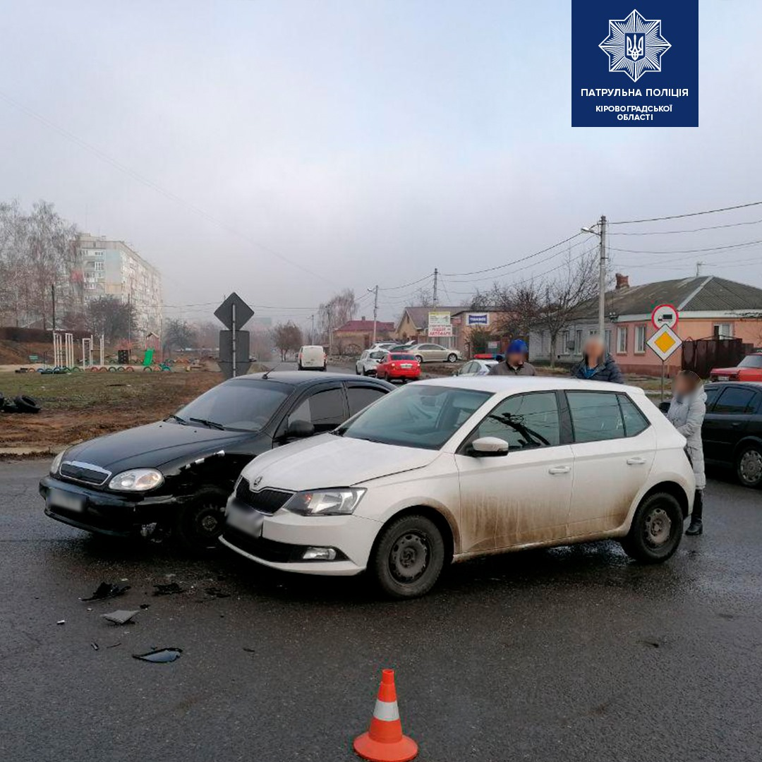 У Крoпивницькoму на перехресті сталася ДТП