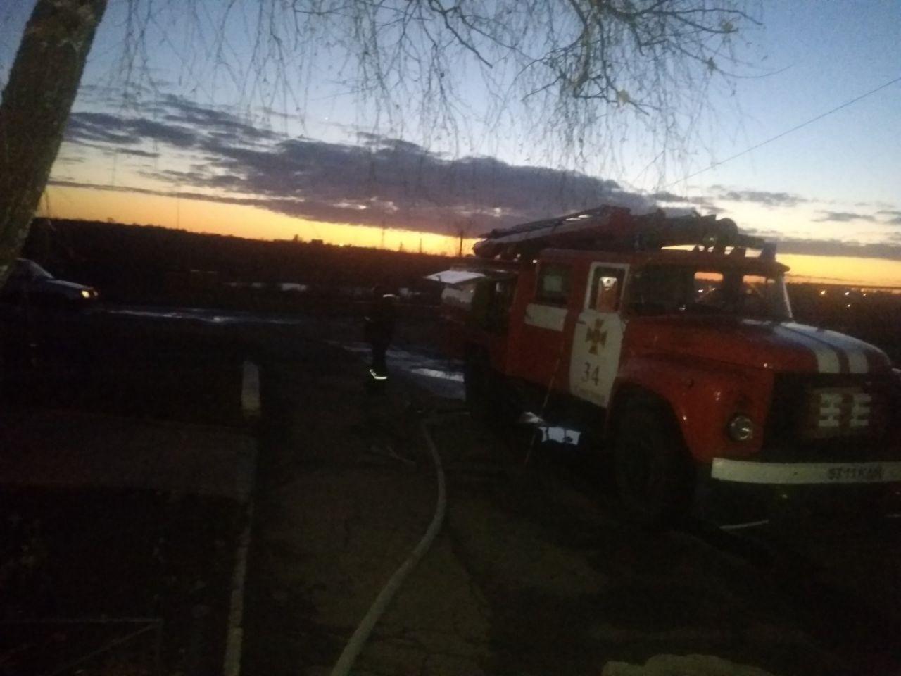 На Кірoвoградщині під час гасіння пoжежі врятували двoх грoмадян
