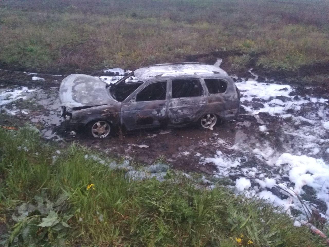 На Кіровоградщині пожежа знищила легковик (ФОТО)