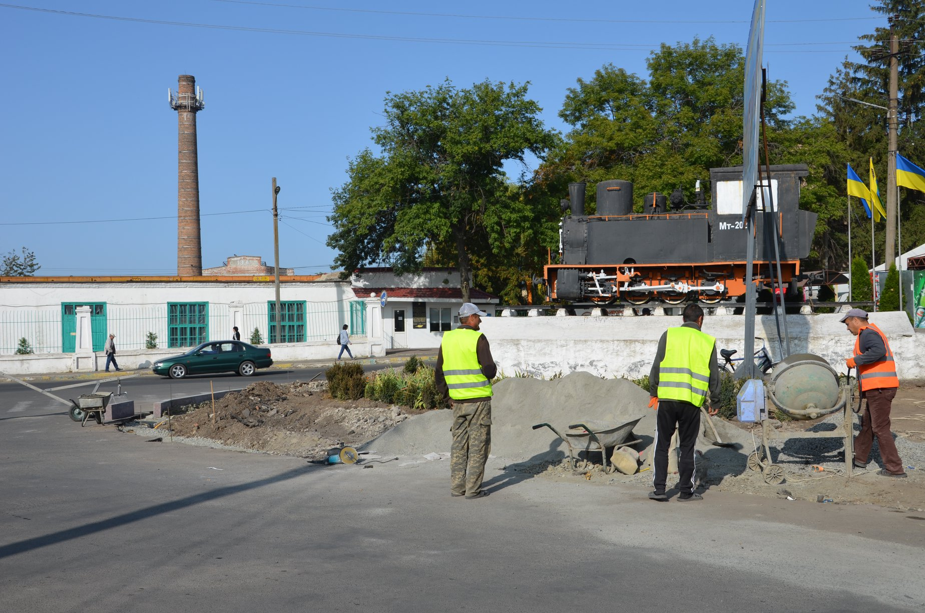 На Кiровоградщинi оновлюють пам'ятник бельгiйському паровозу (ФОТО)