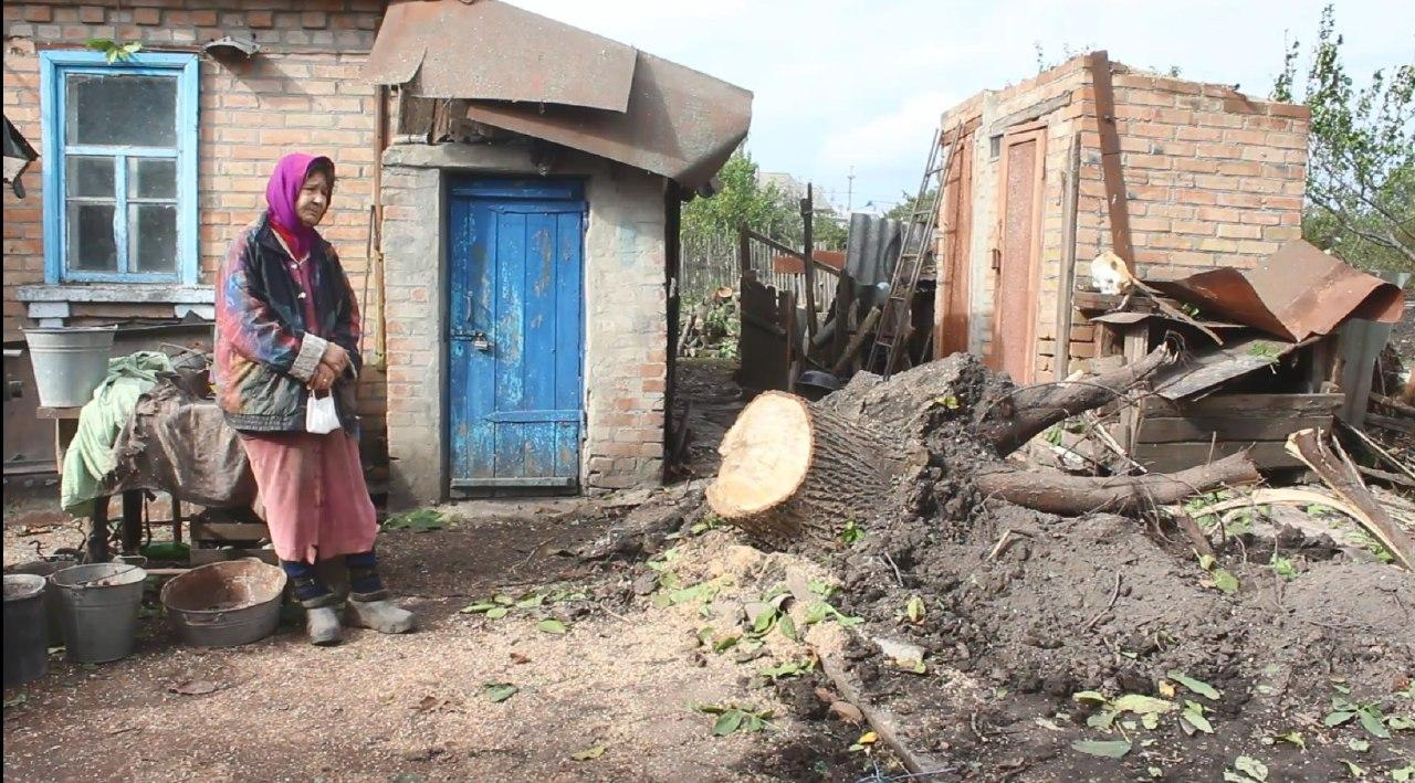 Ледве не привалило горіхом: пенсіонерка показала, як смерч поруйнував її господу в Кропивницькому (ФОТО)