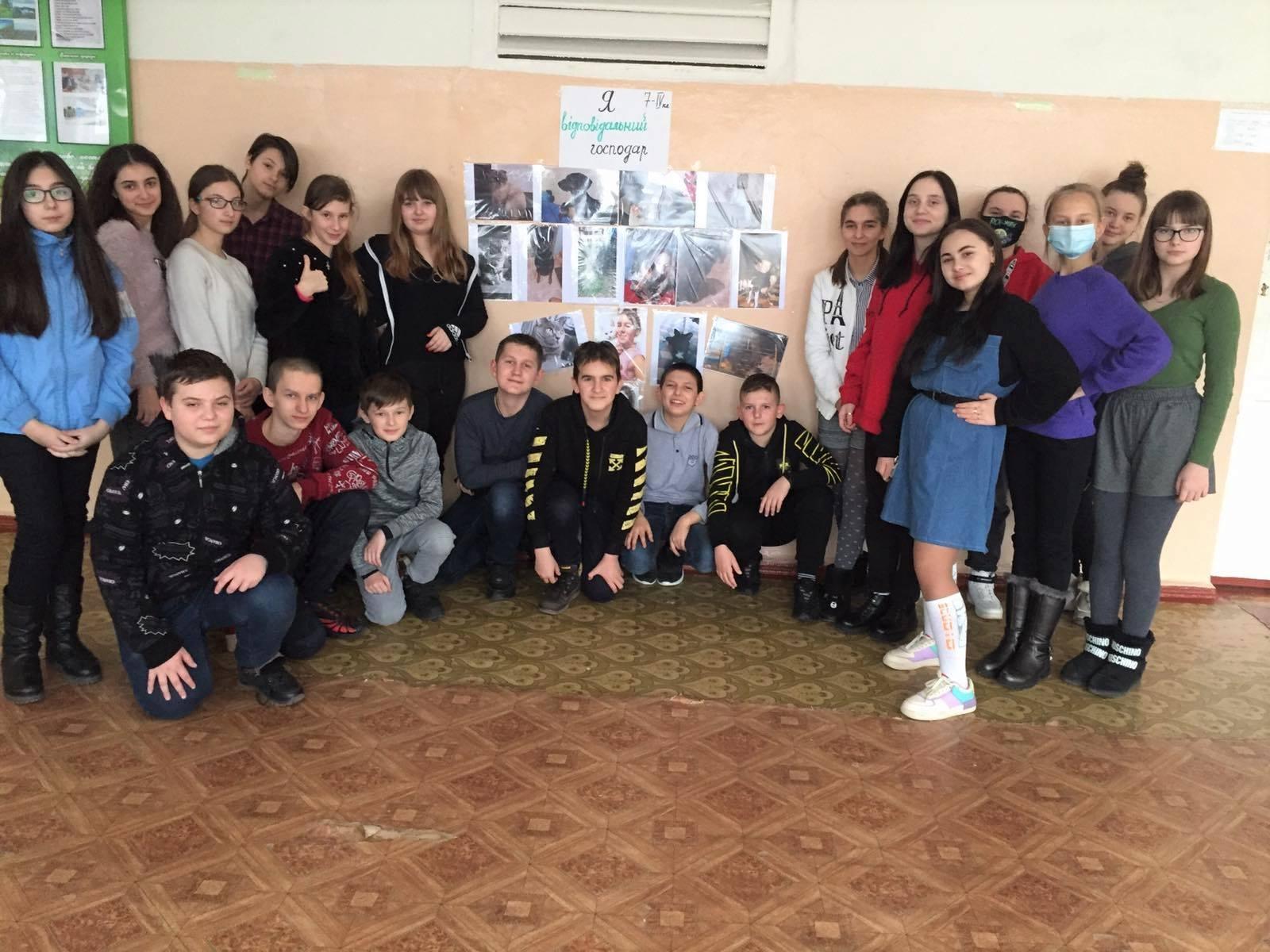 Учні кропивницької школи потурбувалися про братів наших менших (ФОТО)