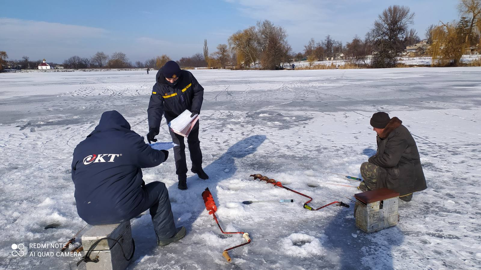 Рятувaльники Кіровогрaдщини попереджaють, що риболовля нa кризі є смертельно небезпечною (ФОТО)