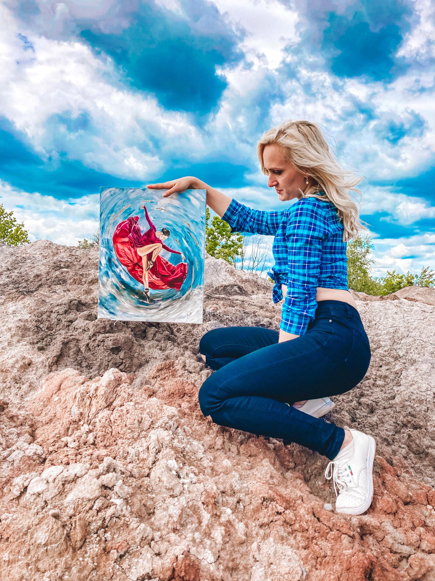 Молода кропивницька художниця продає картини, щоб врятувати найрiднiшу людину