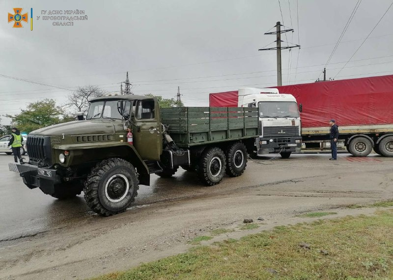 Вантажiвка потрапила в ДТП на Кiровоградщинi